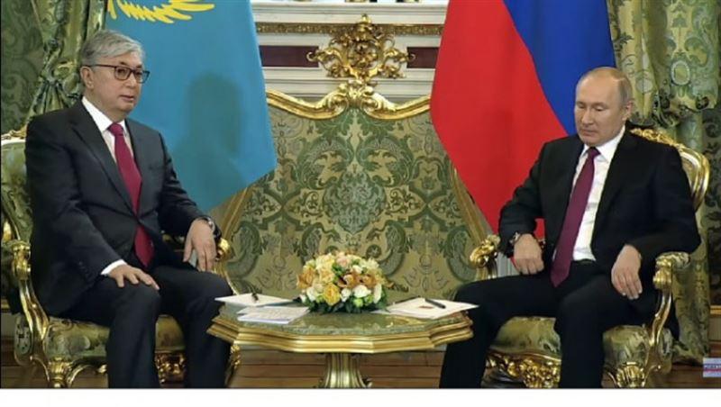 Президент Казахстана передал Путину привет от Елбасы Нурсултана Назарбаева