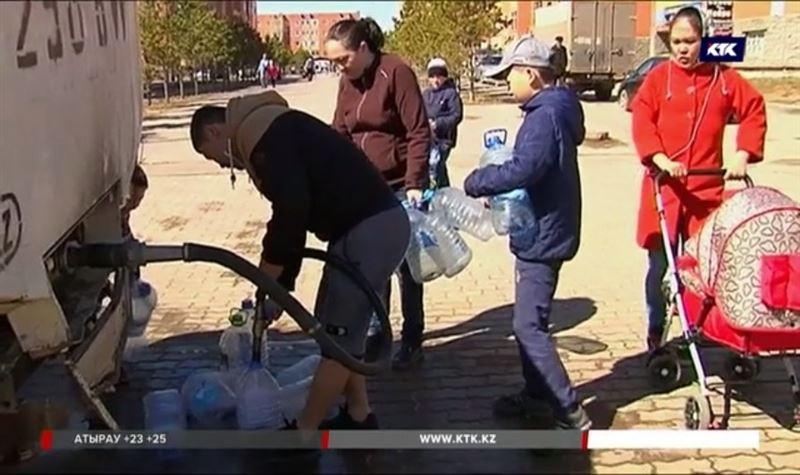 Из-за воды посёлок Косшы остался без воды