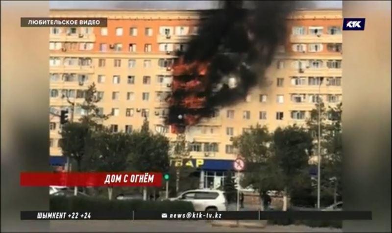 Второй раз за полгода горела многоэтажка в Актобе