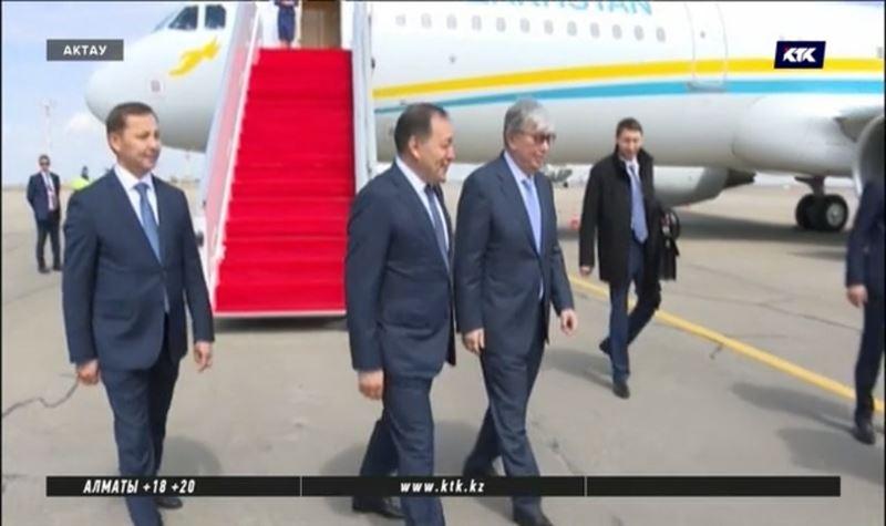 Президент Токаев с рабочим визитом прибыл в Актау