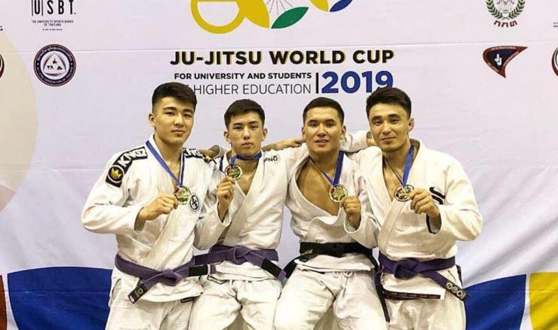 Джиу-джитсуден Әлем кубогында 5 қазақстандық алтын медаль жеңіп алды
