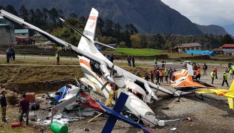 Момент авиакатастрофы в Непале попал на видео