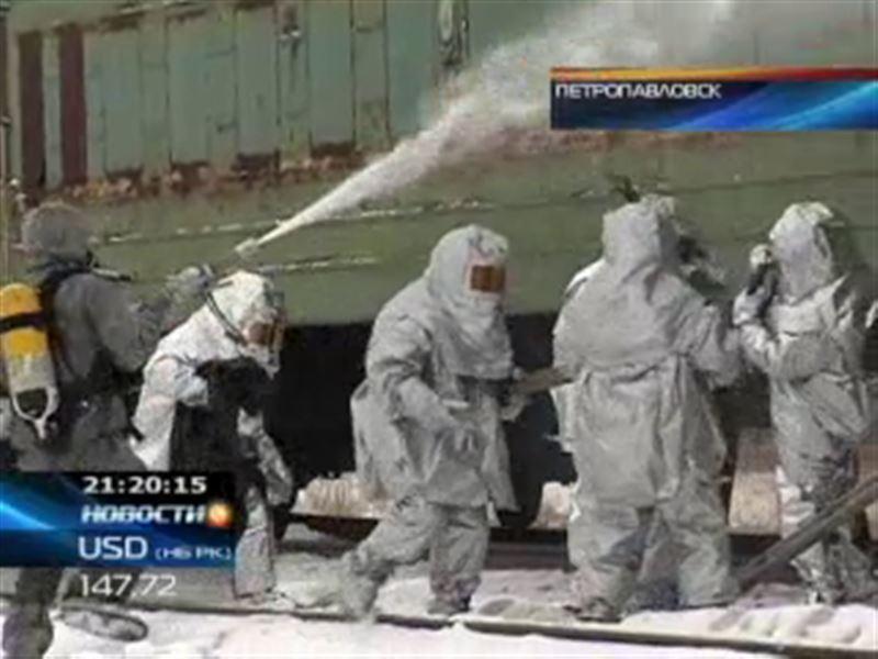 В Петропавловске начались республиканские учения спасателей