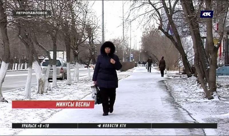 Циклон пришел на север Казахстана, в регионе обещают 13 градусов мороза