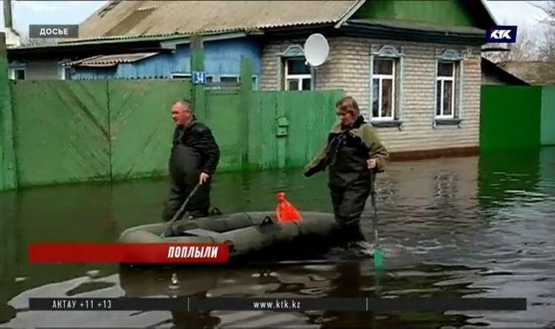 Сто дач и международная трасса затоплены в Северном Казахстане