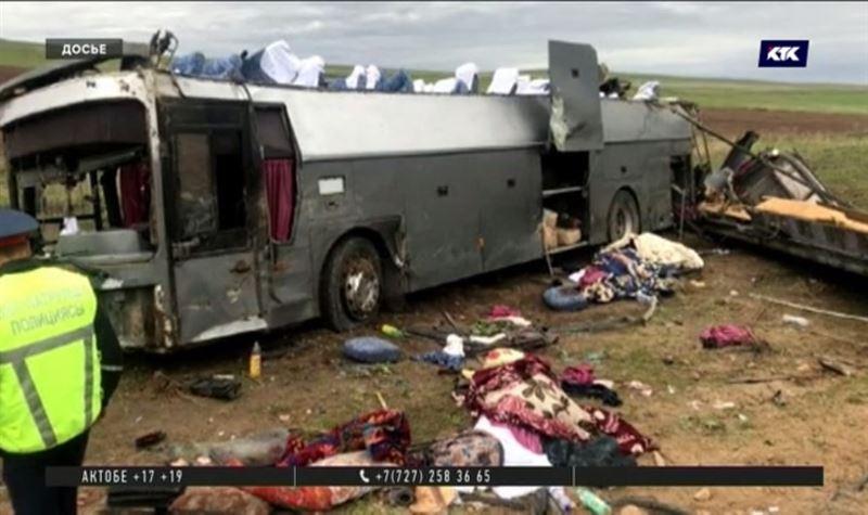 Арестован водитель автобуса, перевернувшегося на Кордае