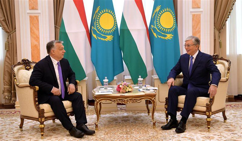 Президент Казахстана встретился с Премьер-министром Венгрии Виктором Орбаном
