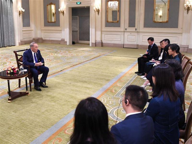 Сегодня Назарбаев ответил на вопросы китайских СМИ