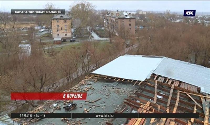 Школа лишилась крыши из-за штормового ветра