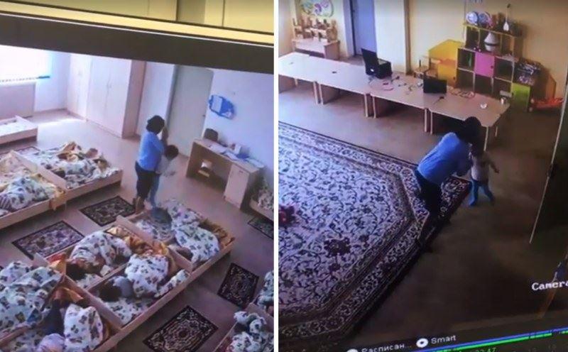 Балабақшада тәрбиешінің балаларды ұрып-соққан видеосы желіде тарады