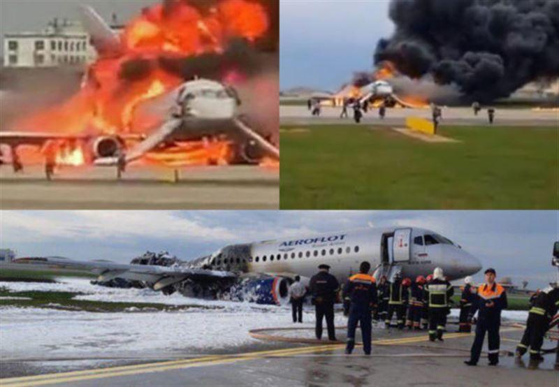 МИД РК проверяет наличие казахстанцев на борту сгоревшего самолета в Москве