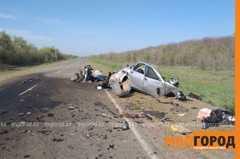 Жуткая авария произошла на трассе Уральск – Кирсаново