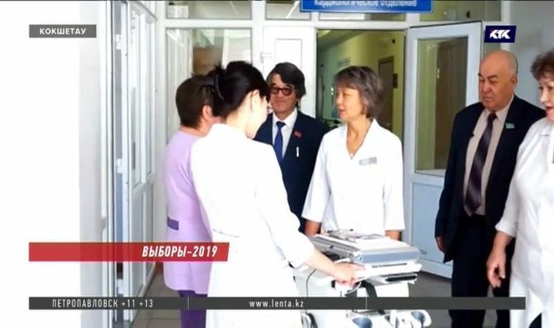 Агитация Жамбыла Ахметбекова начинается с нужд медицины