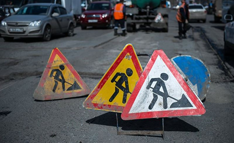 Какие участки дорог будут перекрыты из-за ремонта в Алматы