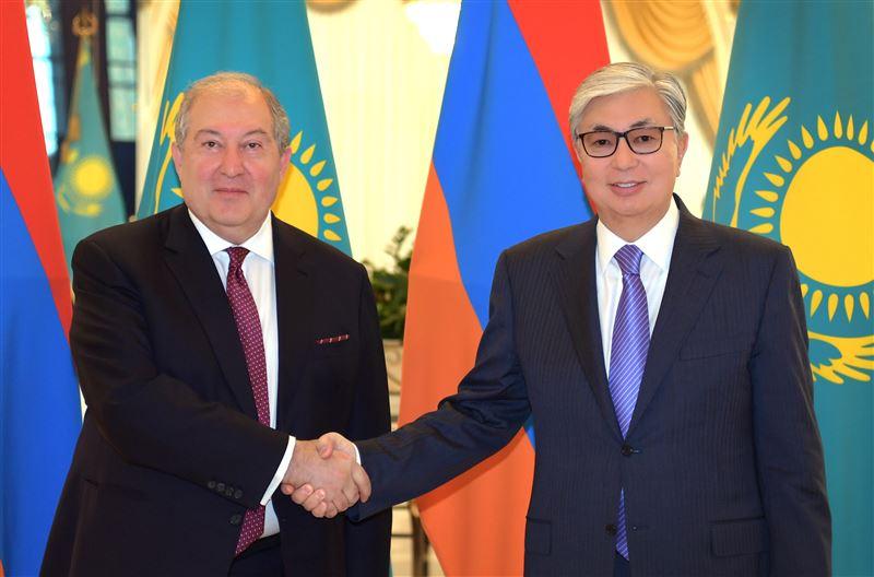 Мемлекет басшысы  Армения президентімен кездесті
