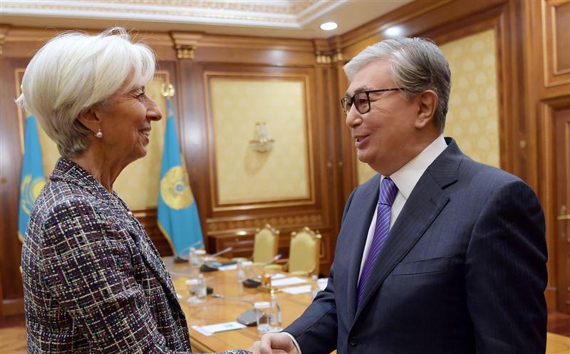 Президент провел встречу с исполнительным директором МВФ