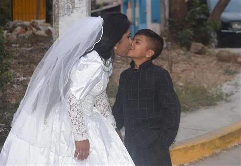 Сеть потрясли фото со свадьбы девушки и ребенка