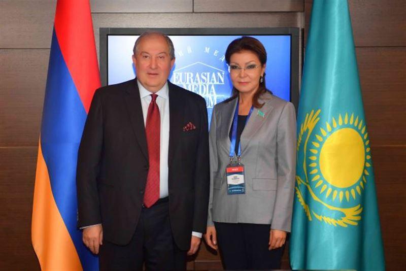 Президент Армении Армен Саркисян рассказал о таланте Дариги Назарбаевой