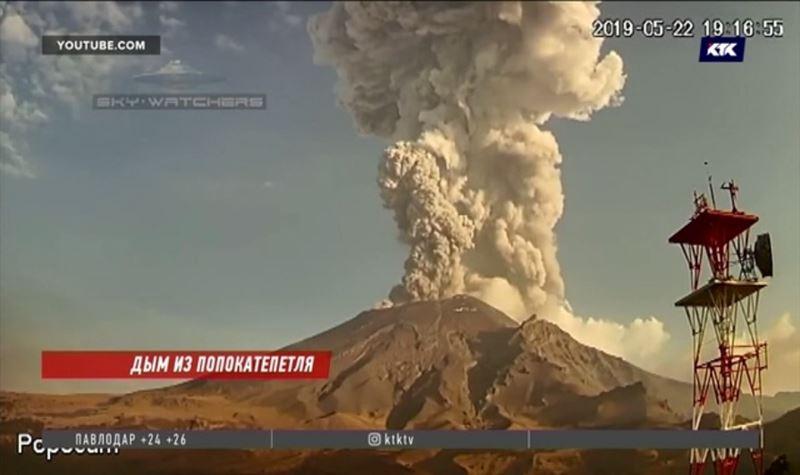 Проснулась мексиканская «дымящаяся гора»