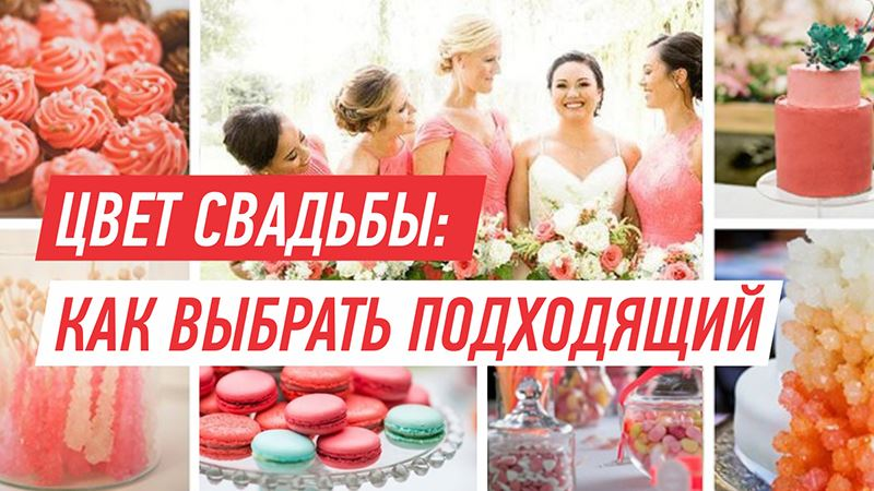 Цвет свадьбы: как выбрать подходящий