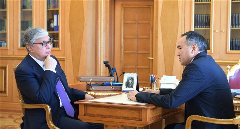 Касым-Жомарт Токаев принял акима Жамбылской области