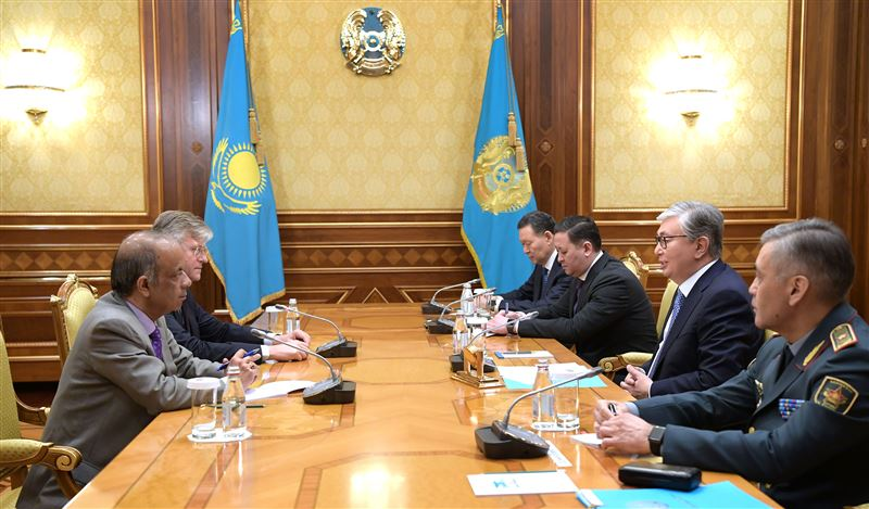 Глава государства провел переговоры с заместителями Генсека ООН