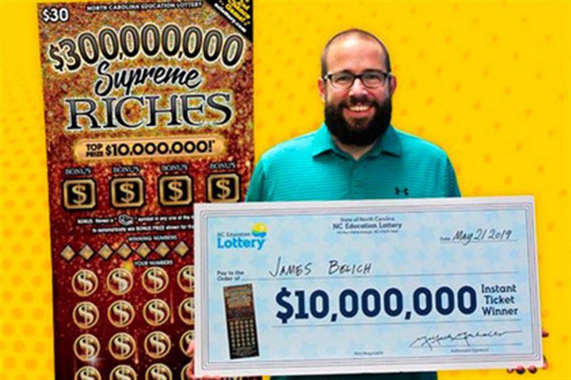 Мужчина выиграл 10 миллионов долларов во время обеденного перерыва