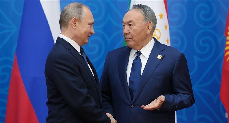 Путин поблагодарил Назарбаева за вклад в создание ЕАЭС