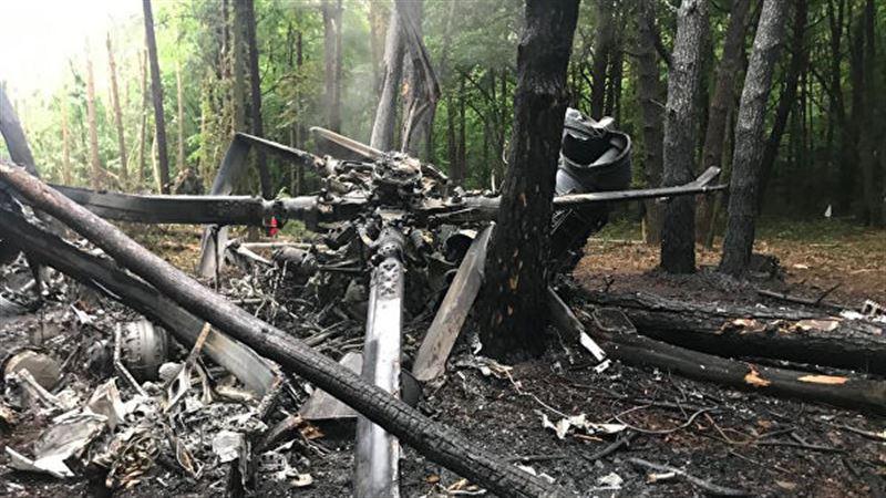 Вертолёт с военными потерпел крушение на Украине