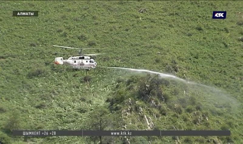 Экстренные службы учились тушить алматинские горы