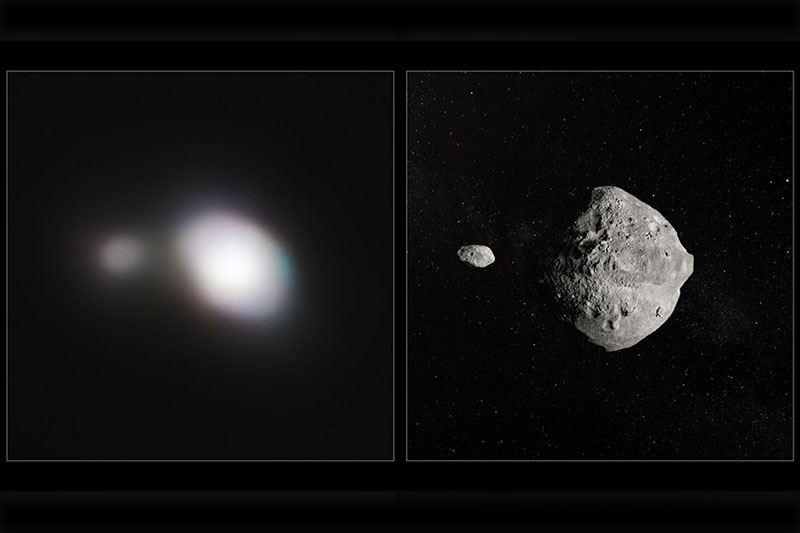 Телескоп запечатлел двойной астероид, пролетевший мимо Земли