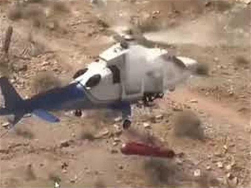 Головокружительный аттракцион: спасатели на вертолете устроили пострадавшей старушке жуткую поездку