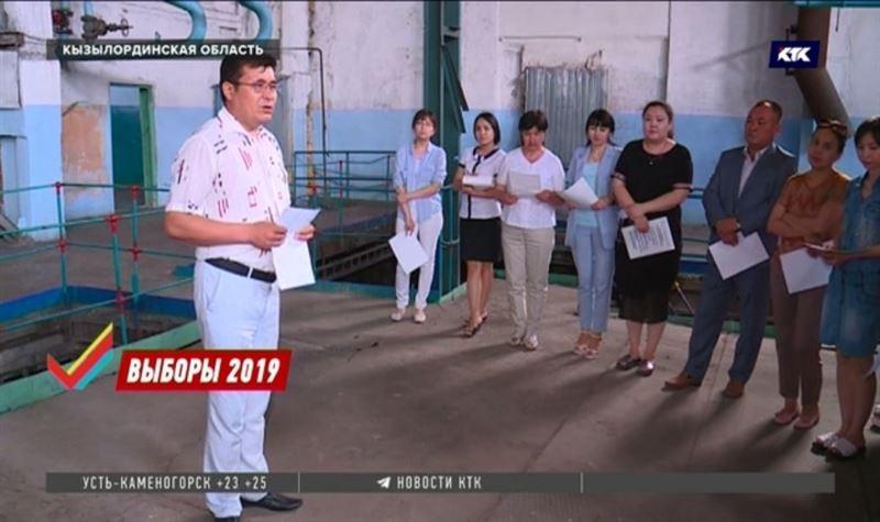 Представители Амиржана Косанова побеседовали с избирателями Кызылординской области
