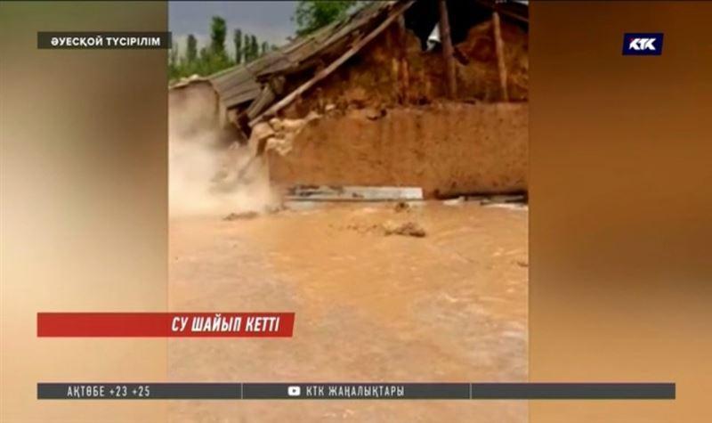 Түркістан облысында ауылды су шайып кете жаздады