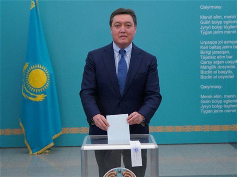 Премьер-министр РК проголосовал на внеочередных выборах президента РК