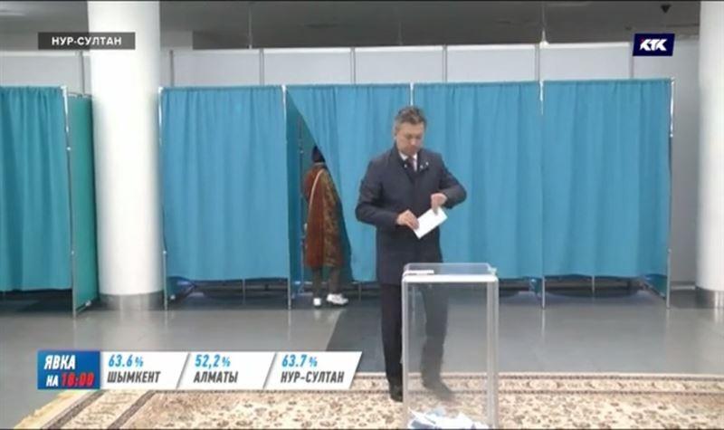 Акимы Алматы и Нур-Султана проголосовали на выборах президента РК