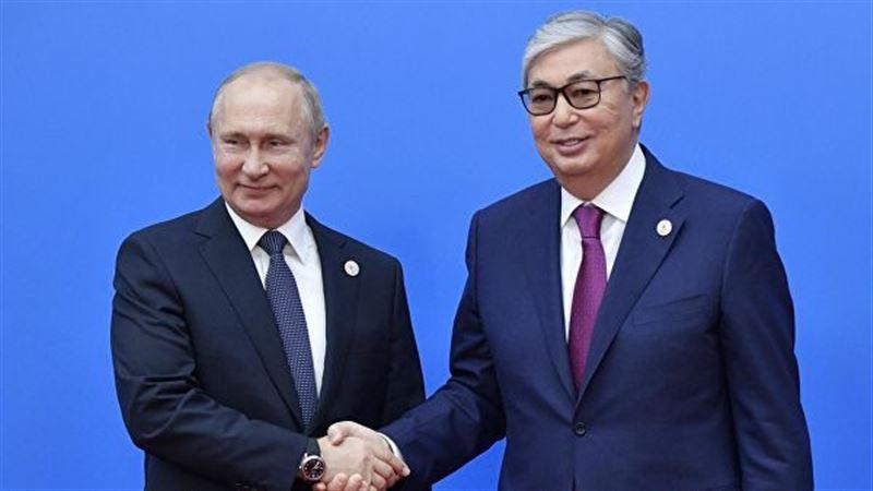 Президент России Владимир Путин поздравил Касым-Жомарта Токаева с победой на выборах