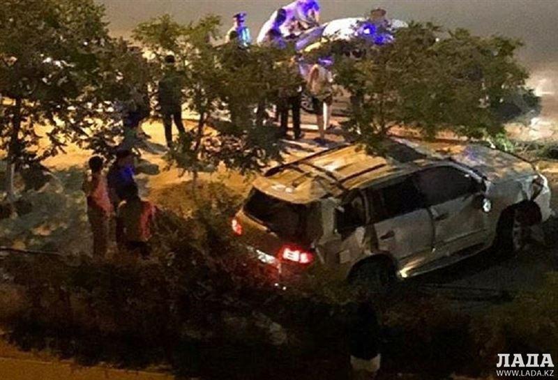 Водитель попал в аварию, скрываясь от полиции в Актау