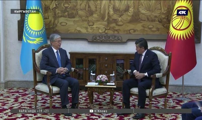 Президент Казахстана встретился в Бишкеке с коллегами
