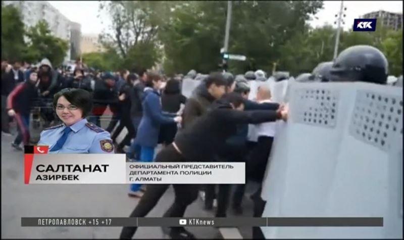 В Алматы задержали подстрекателей к беспорядкам на митингах
