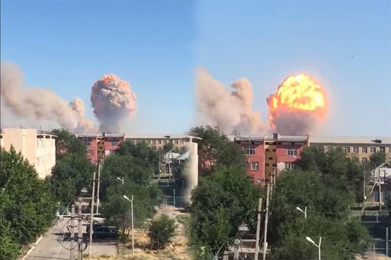 Түркістан облысында жойқын жарылыс болды