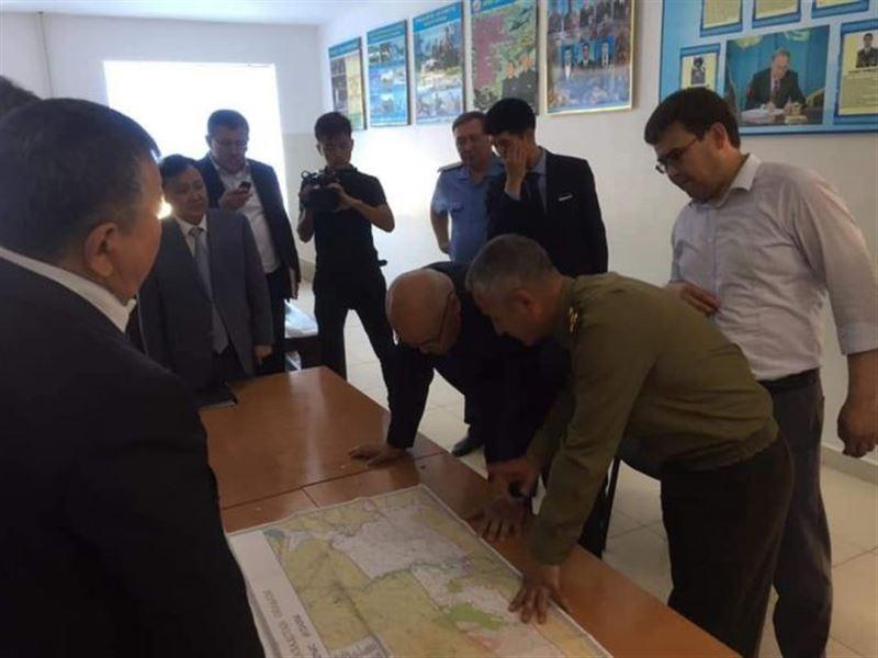 Аким Туркестанской области прибыл в город Арысь
