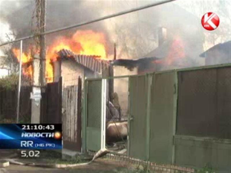 В Алматинской области заживо сгорела пожилая женщина