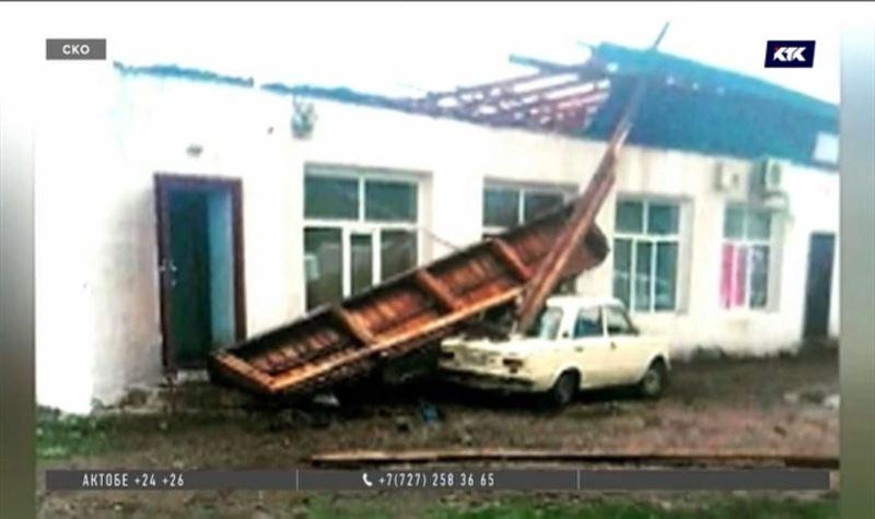 Шторм нанёс серьёзный ущерб районам СКО