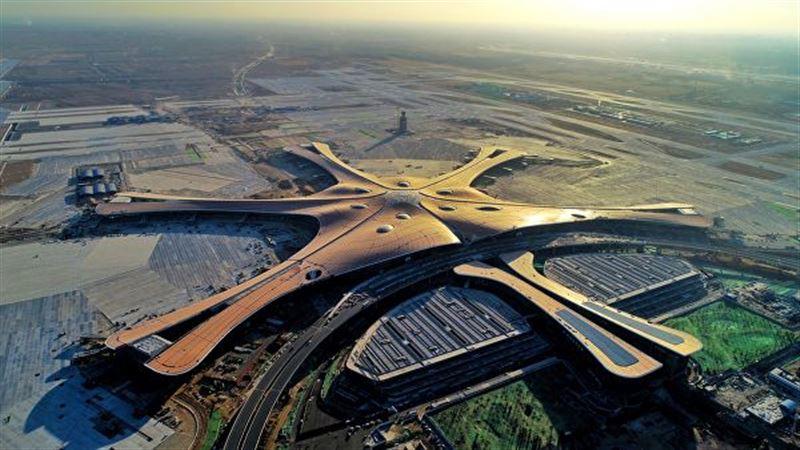 Крупнейший в мире аэропорт построен в Пекине