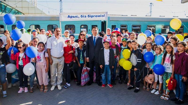 200 детей из Арыси прибыли в столицу Казахстана