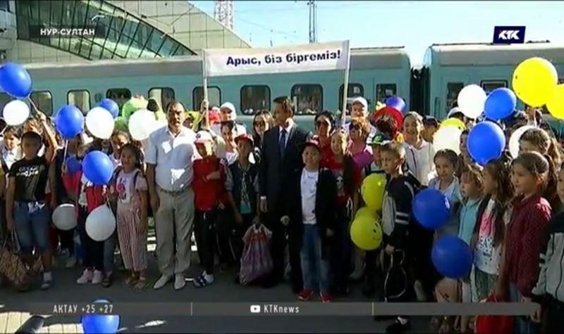 В столице встретили школьников из Арыси