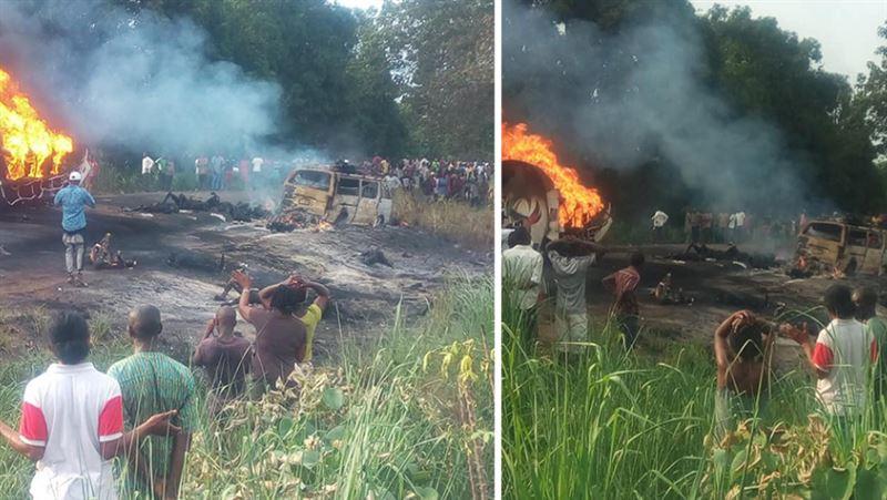 50 человек сгорели заживо при взрыве бензовоза в Нигерии