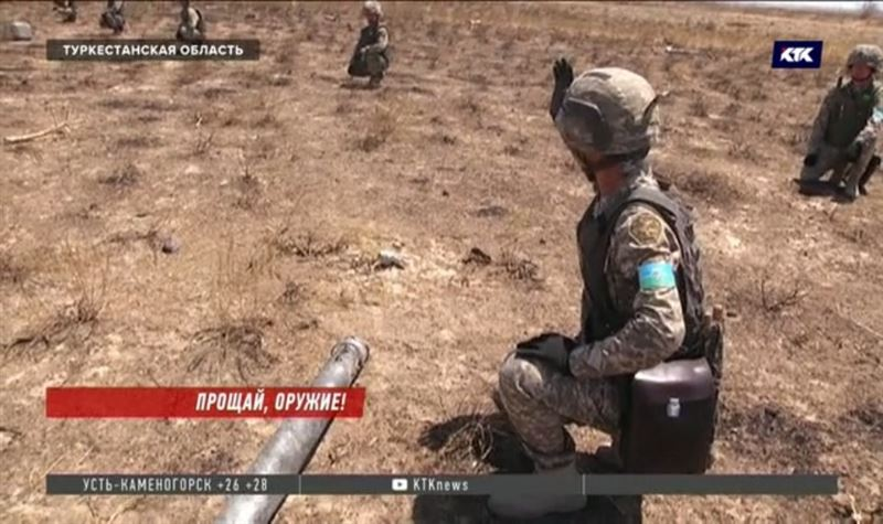 Сапёры находят разлетевшиеся снаряды даже в соседних с Арысью посёлках