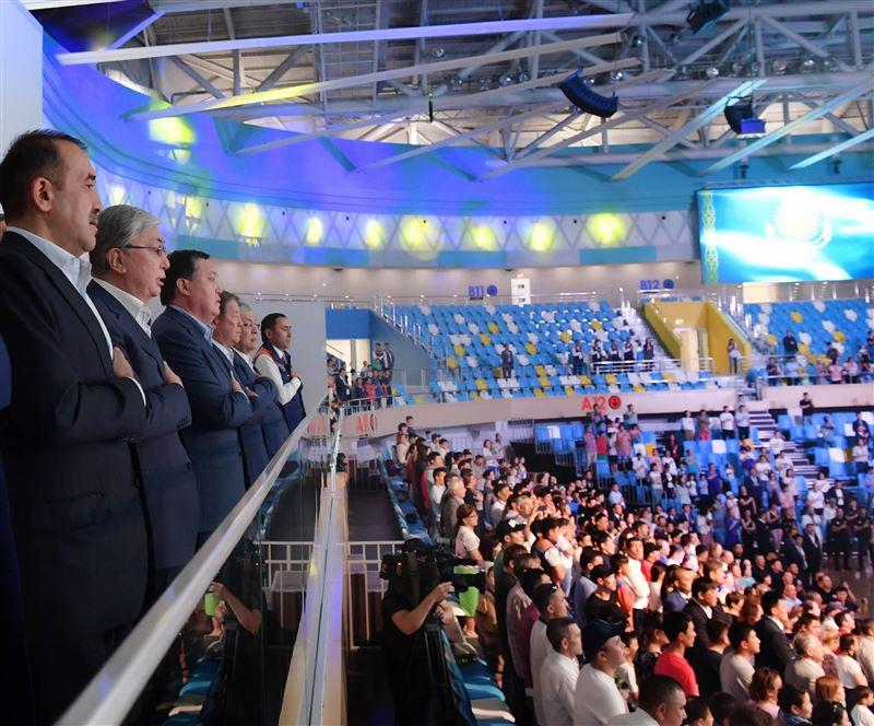 Президент Казахстана открыл Дворец единоборств в Нур-Султане